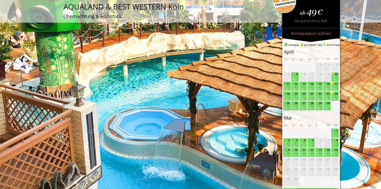 2 tage k ln im 4 sterne hotel mit fr hst ck eintritt ins aqualand ab 49 urlaub. Black Bedroom Furniture Sets. Home Design Ideas