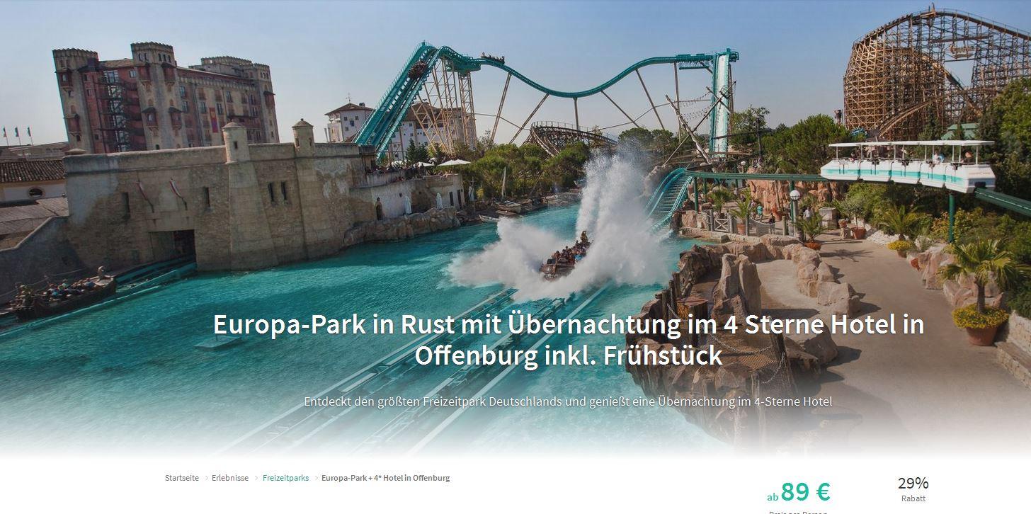 Europa Park In Rust Mit Ubernachtung Im 4 Sterne Hotel In Offenburg