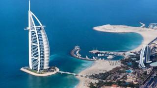 DUBAI UAE - JANUARY 20: Burj Al Arab hotel on January 20 2011 in Dubai UAE. Burj Al Arab is a luxury 5 star hotel built on an artificial island in front of Jumeirah beach