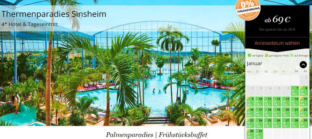 Günstiges Angebot für die Therme Sinsheim