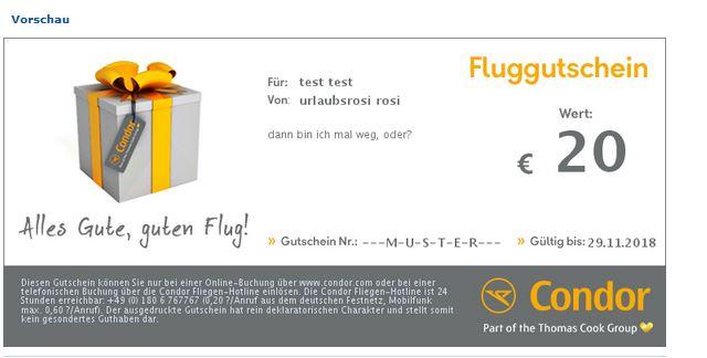 condor fluggutschein zum verschenken 20 50 100 200. Black Bedroom Furniture Sets. Home Design Ideas